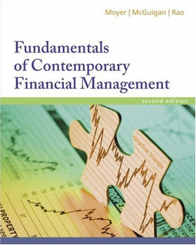 Fundamentals of Contemporary Financial Management: McGuigan, James R.