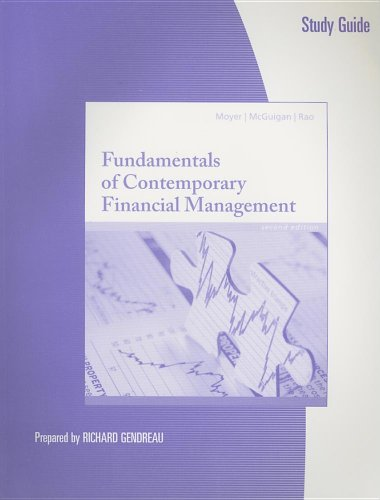 Study Guide for Moyer/McGuigan/Rao's Fundamentals of Contemporary: R. Charles Moyer,
