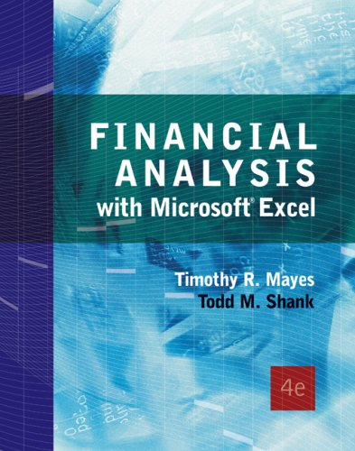 9780324407501: Financial Analysis with Microsoft Excel