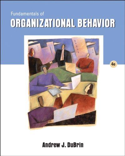 9780324421392: Fundamentals of Organizational Behavior