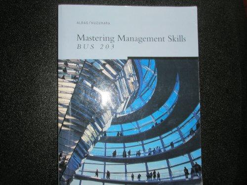 9780324534900: Mastering Management Skills (Bus 203)