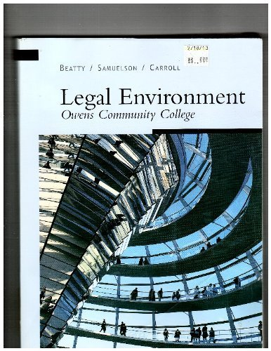 Legal Environment: Owens Community College: Beatty