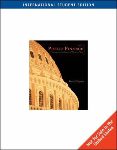 9780324537352: Public Finance, International Edition