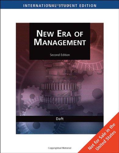 New management by richard daft abebooks the new era of management richard daft author fandeluxe Choice Image