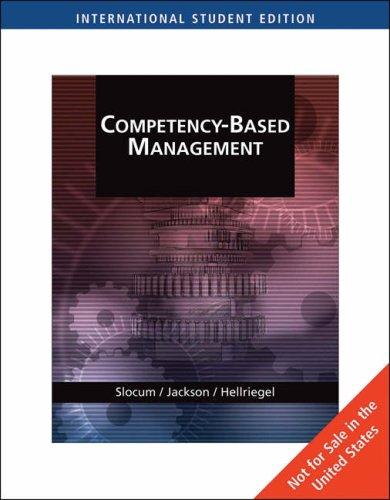 9780324539677: Competency-Based Management, International Edition