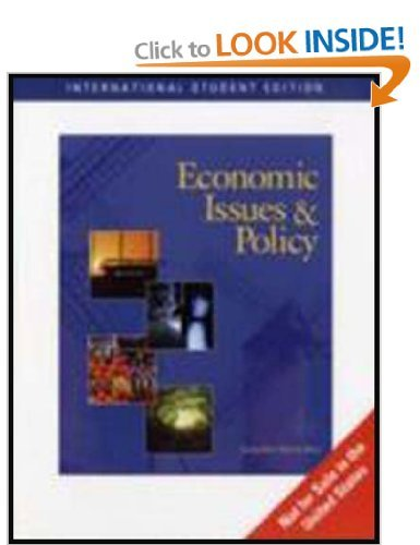 9780324543117: Economic Issues and Policy (Ise) 4th Edition By Jacqueline Murray Brux[paperback]