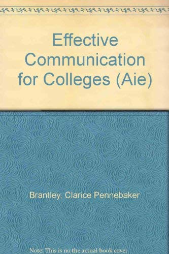 9780324543360: Effective Communication for Colleges (Aie)