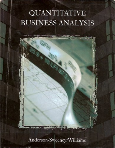9780324550184: Quantitative Business Analysis (Custom Edition with CD)