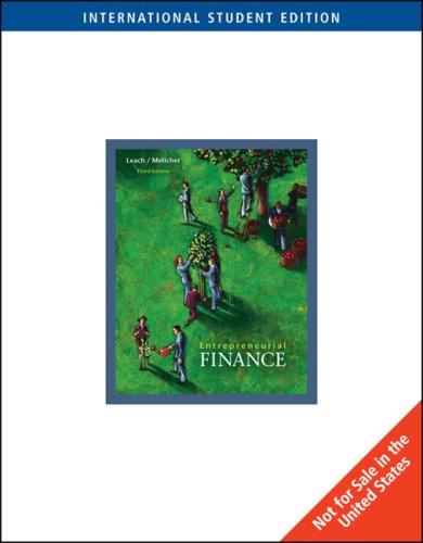 9780324561173: Entrepreneurial Finance, International Edition