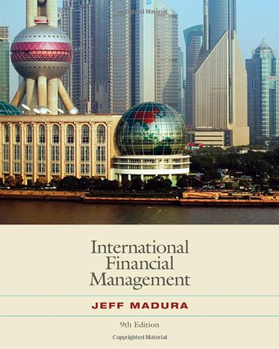 International Financial Management (with World Map) (Available: Jeff Madura