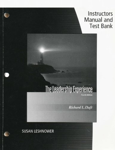 9780324568479: THE LEADERSHIP EXPERIENCE 4EDITION