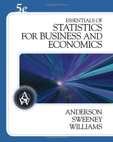 9780324568608: Essentials of Statistics for Business and Economics (with CD-ROM) (Available Titles CengageNOW)