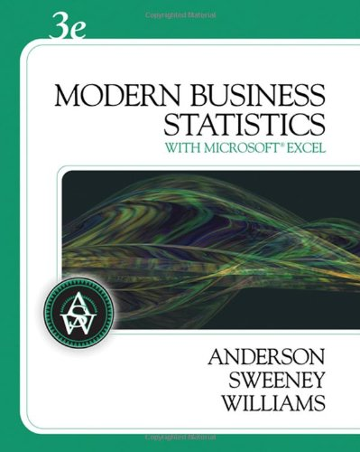 9780324568660: Modern Business Statistics (with Student CD-ROM)
