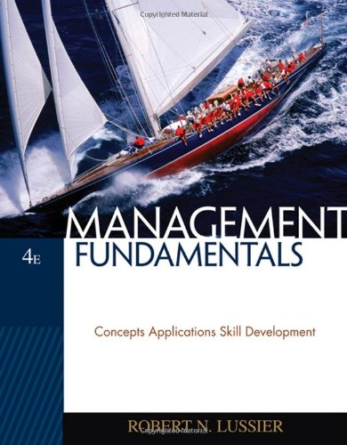 9780324569643: Management Fundamentals: Concepts, Applications, Skill Development