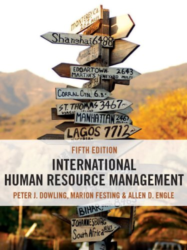 International Human Resource Management: Managing People in: Engle, Allen, Festing,
