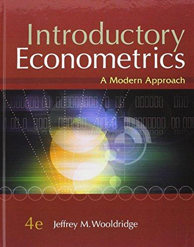 9780324581621 introductory econometrics a modern approach rh abebooks co uk wooldridge panel data solution manual Advantages of Manual Data Processing