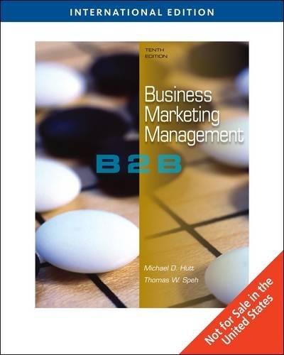 9780324581638: Business Marketing Management: B2B, International Edition