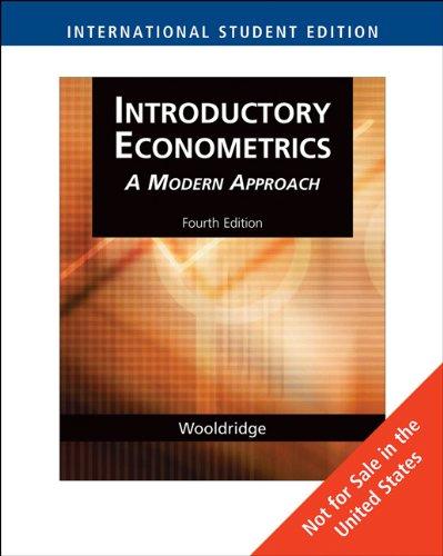 9780324585483: Introductory Econometrics (International Student Edition)