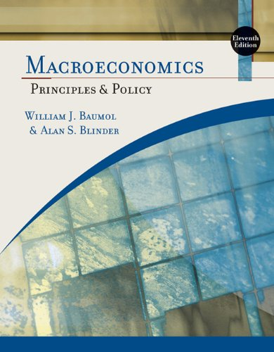 9780324586244: Study Guide for Baumol/Blinder's Macroeconomics: Principles and Policy