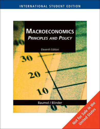 9780324586374: Macroeconomics Principles and Policy 11th Edition International Edition