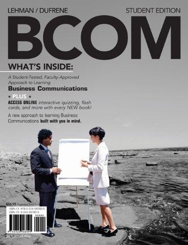 BCOM Plus (with Review Cards and www.bcom4me.com: Carol M. Lehman,