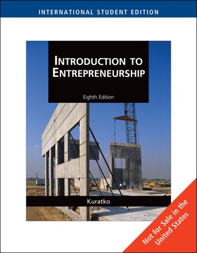 9780324590869: Introduction to Entrepreneurship, International Edition