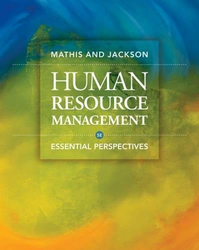 9780324592412: Human Resource Management: Essential Perspectives