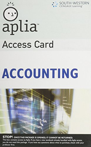 9780324593464: Aplia Access Card for Accounting (Unopened)