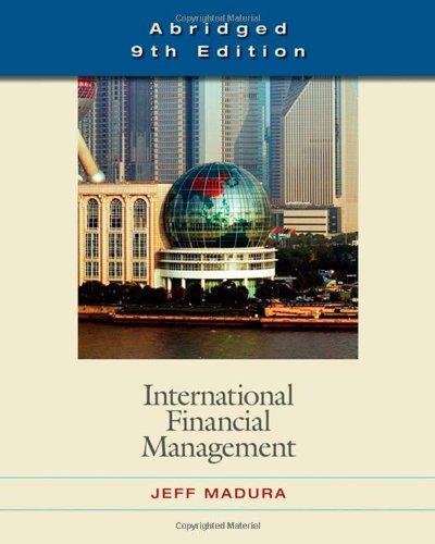 9780324593471: International Financial Management, Abridged Edition (with World Map)