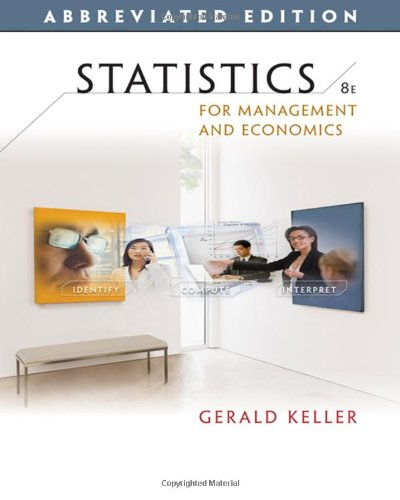 9780324594270: Statistics for Management and Economics, Abbreviated Edition (with CD-ROM) (Available Titles Aplia)