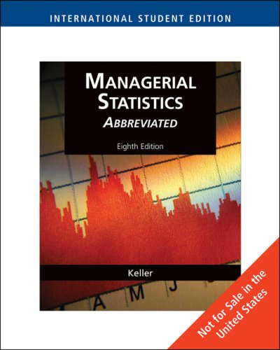9780324594331: Managerial Statistics, Abbreviated Edition, International Edition (with CD-ROM)