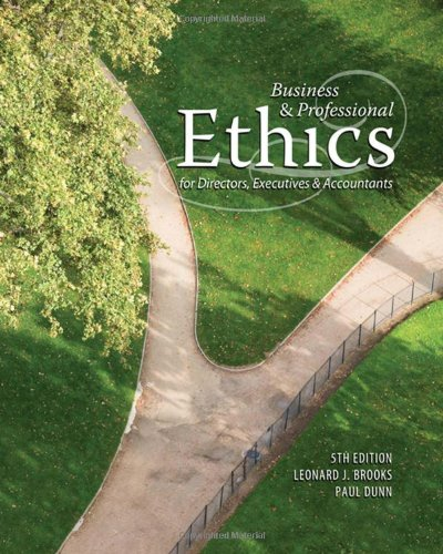 9780324594553: Business & Professional Ethics for Directors, Executives & Accountants