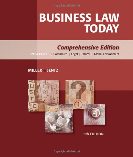 9780324595741: Business Law Today: Comprehensive