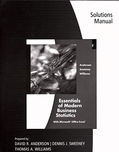 Solutions Manual for Essentials of Modern Business: Dennis J. Sweeney,