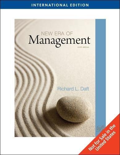 New management by richard daft abebooks new era of management international edition richard daft fandeluxe Choice Image
