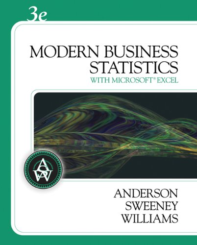 Modern Business Statistics (with Student CD-ROM) (Available: Anderson, David R.,