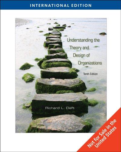 9780324598889 Understanding The Theory And Design Of Organizations International Edition Abebooks Daft 0324598882