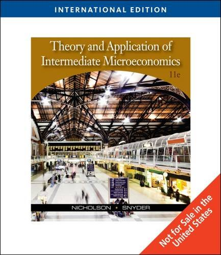 9780324599497: Theory and Application of Intermediate Microeconomics, International Edition (with InfoApps 2-Semester Printed Access Card)