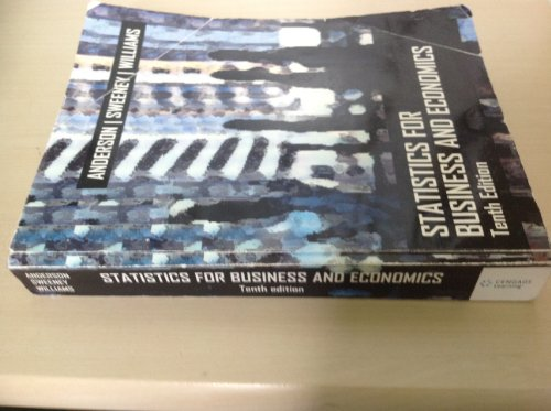 9780324606058: Statistics for Business and Economics (Tenth Edition) By Anderson/Sweeney/Williams