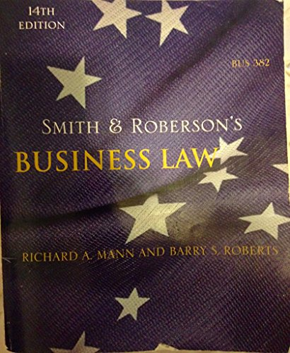 9780324611205: Smith & Roberson's Business Law