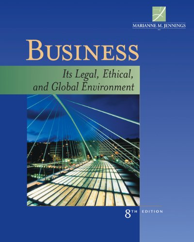 Bundle: Business: Its Legal, Ethical, and Global: Jennings, Marianne M.