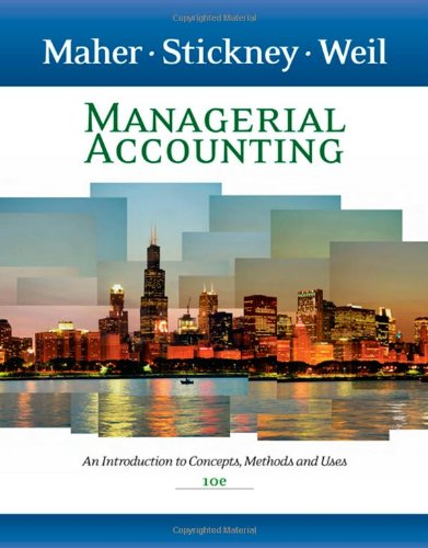 9780324639766: Managerial Accounting: An Introduction to Concepts, Methods and Uses