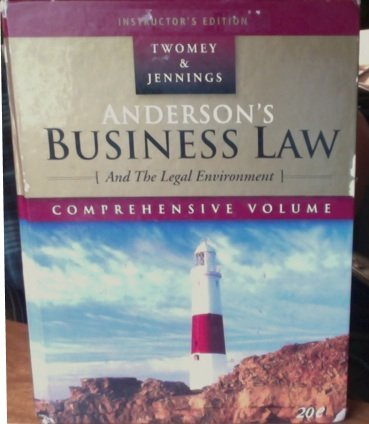 Anderson's Business Law and the Legal Environment: David P. Twomey,