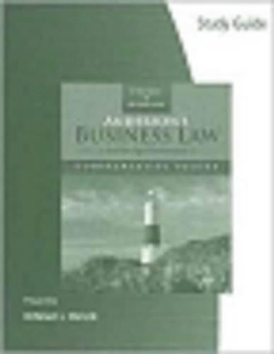 Study Guide for Twomey/Jennings' Anderson's Business Law,: David P. Twomey,