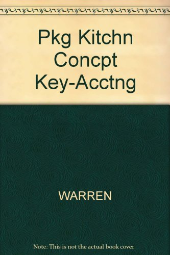Pkg Kitchn Concpt Key-Acctng: WARREN, REEVE, DUCHAC
