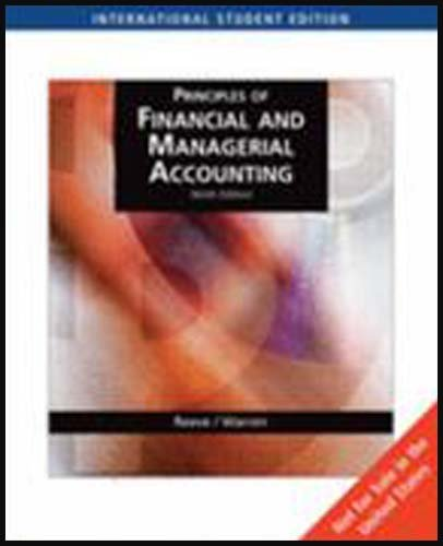 9780324645217: Principles of Financial and Managerial Accounting