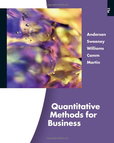 Quantitative Methods for Business (with Printed Access: David R. Anderson,