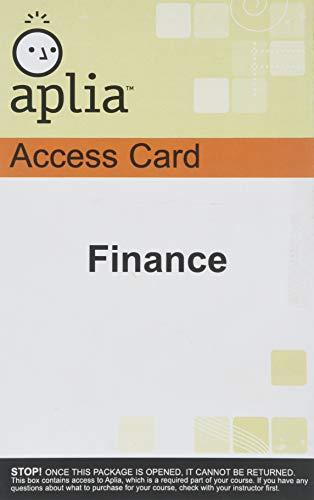 9780324652147: Finance (Aplia Access Code Card)