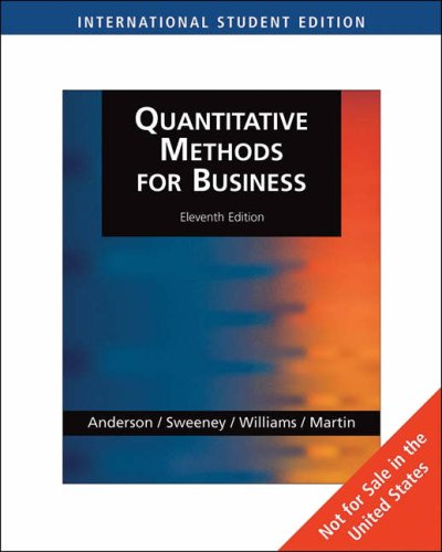 Quantitative Methods for Business, International Edition (with: David Anderson (author),