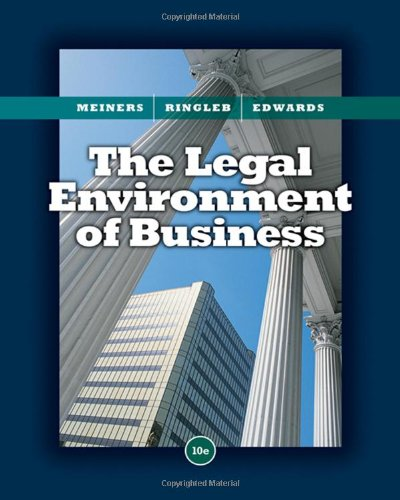 9780324654363: The Legal Environment of Business
